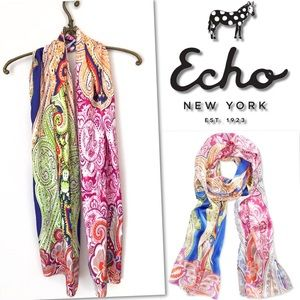 Echo Accessories - 🆕 ECHO PAISLEY MULTI OBLONG WRAP SCARF
